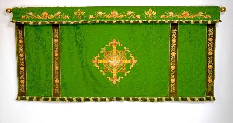 Decorative Tapestry on Brass Rod 2