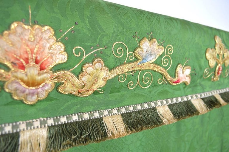 Decorative Tapestry on Brass Rod For Sale 1