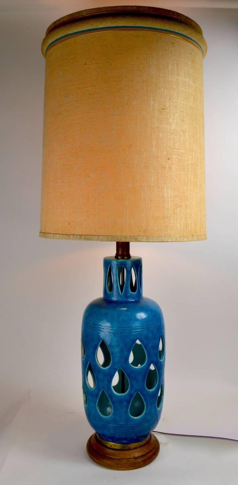 20th Century Rimini Bitossi Ceramic Table Lamp by Londi For Sale