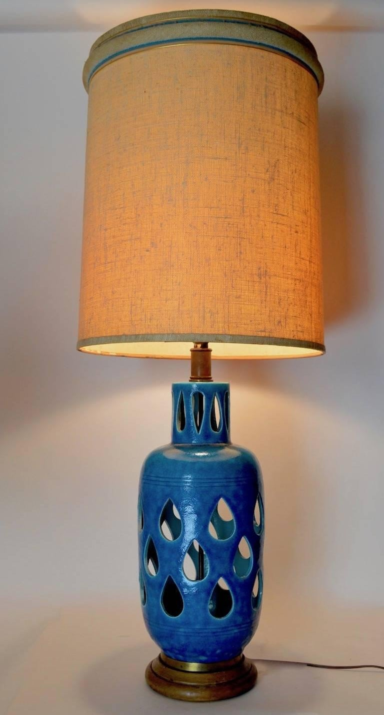 Rimini Bitossi Ceramic Table Lamp by Londi For Sale 1