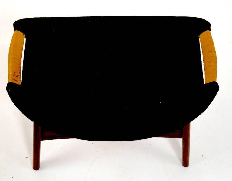 Swedish Danish Modern Footrest Ottoman Stool Attributed to P.I. Langlos Fabrikker For Sale
