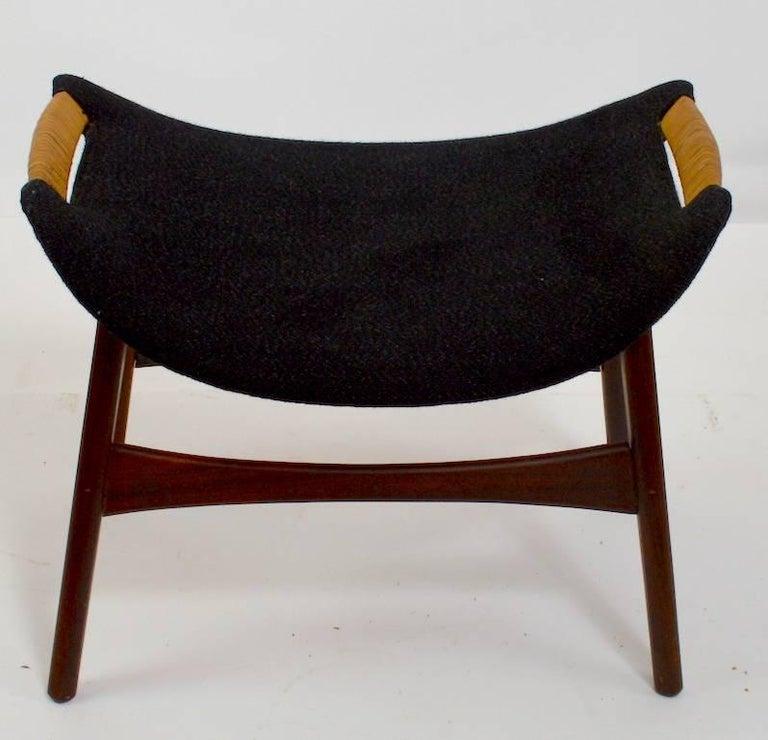 Scandinavian Modern Danish Modern Footrest Ottoman Stool Attributed to P.I. Langlos Fabrikker For Sale