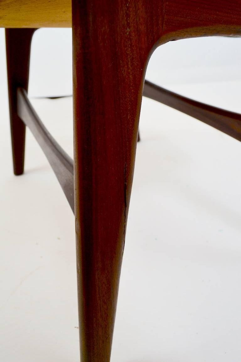20th Century Danish Modern Footrest Ottoman Stool Attributed to P.I. Langlos Fabrikker For Sale