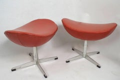 Arne Jacobsen Ottoman Footrests for Fritz Hansen
