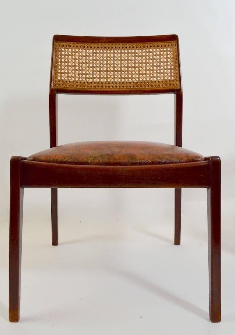 20th Century Set of Six Risom Dining Chairs For Sale