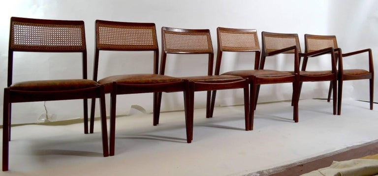 Set of Six Risom Dining Chairs For Sale 3