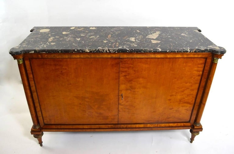 20th Century Directoire Style Marble-Top Commode For Sale