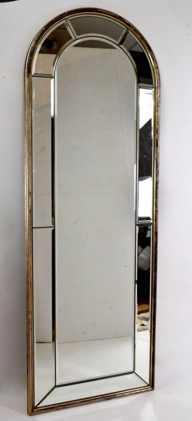 Cathedral Mirror with Silver Gilt Frame Made in Italy For Sale 3