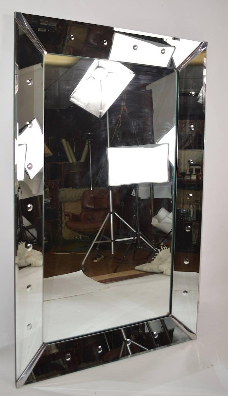 Art Deco Coinspot Venetian Mirror For Sale