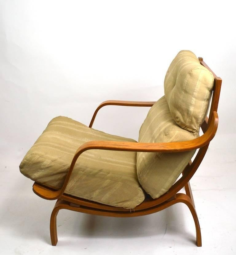 Bent Ply Lounge Chair after Bruno Mathsson In Good Condition For Sale In New York, NY