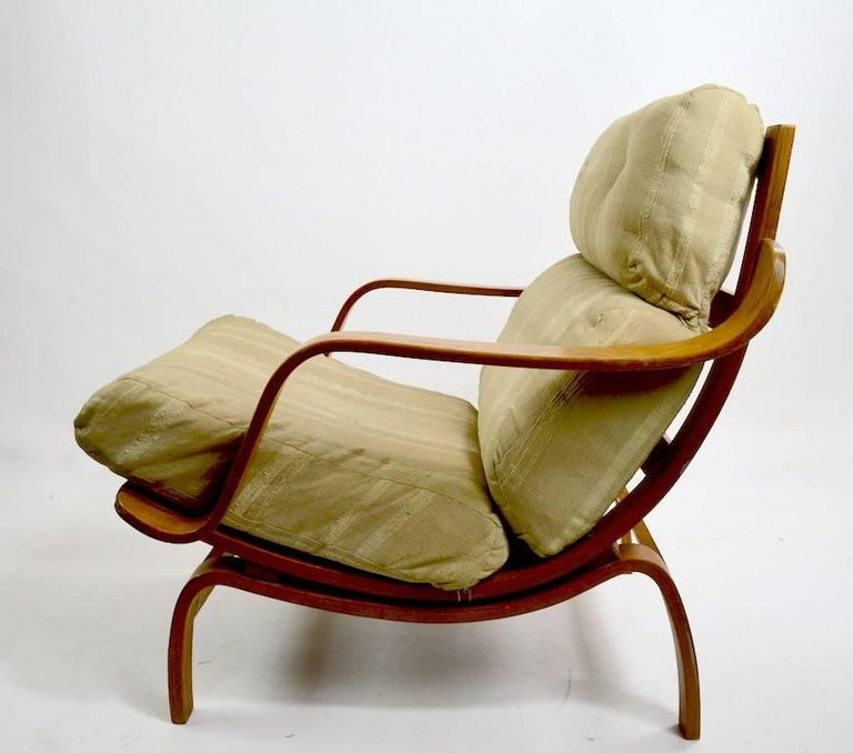 Swedish Bent Ply Lounge Chair after Bruno Mathsson For Sale