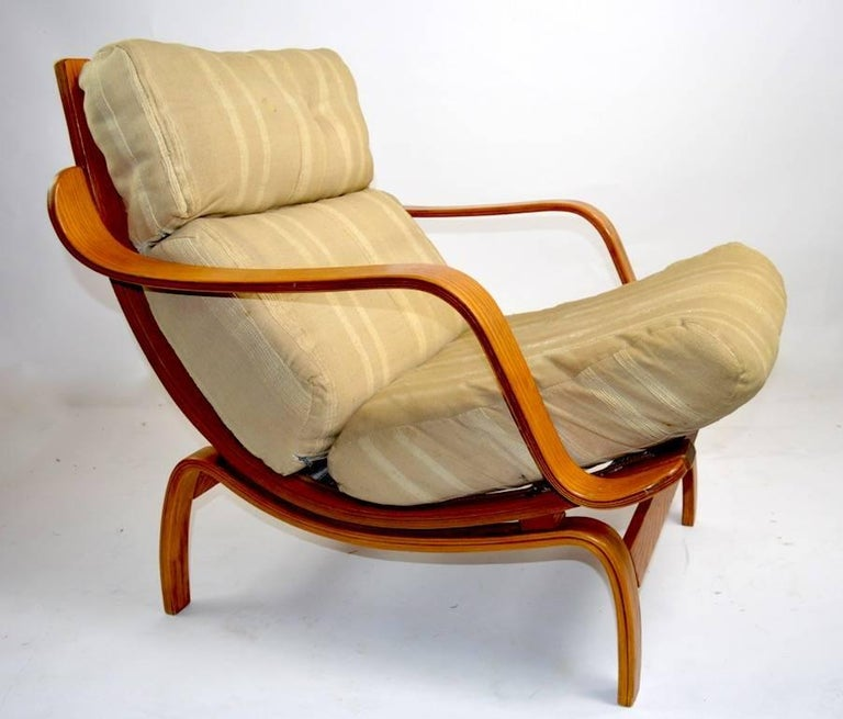 Bent Ply Lounge Chair after Bruno Mathsson For Sale 3
