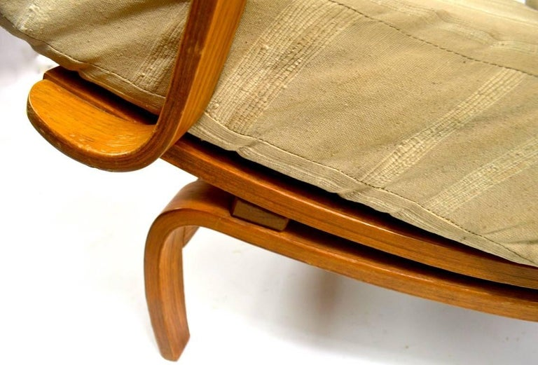 20th Century Bent Ply Lounge Chair after Bruno Mathsson For Sale