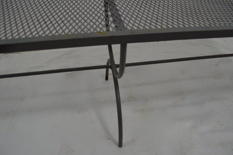 American Iron Garden Bench by Woodard For Sale