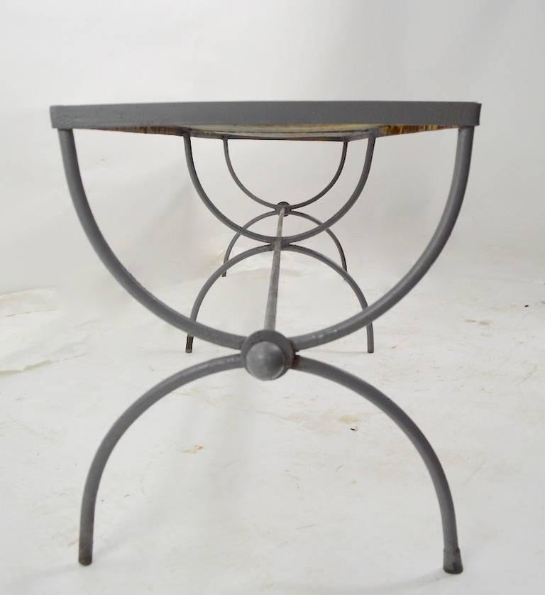 Iron Garden Bench by Woodard For Sale 3