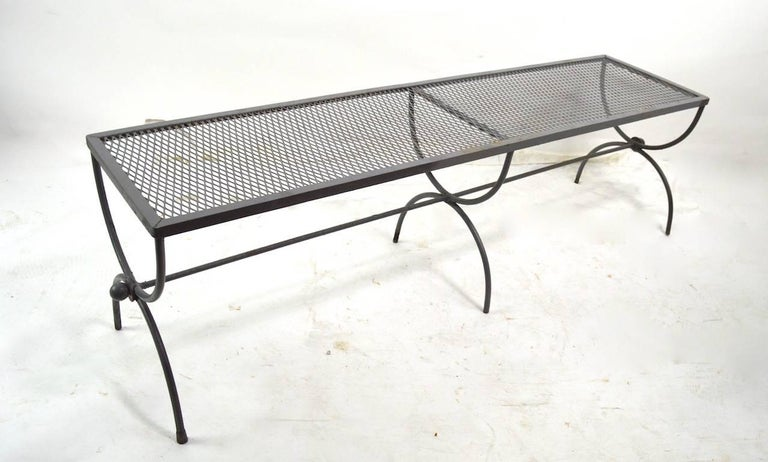 Iron Garden Bench by Woodard For Sale 4