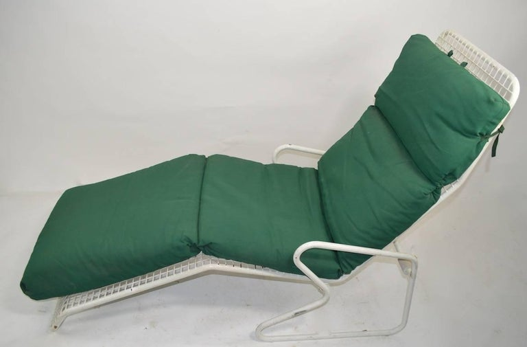 20th Century Two Metal Chaise Longues by Erlau AG Design Attributed to Karl Fichtel For Sale