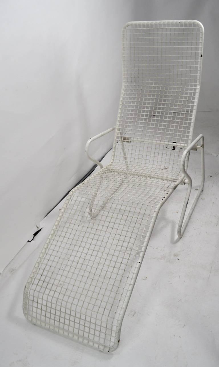Mid-Century Modern Two Metal Chaise Longues by Erlau AG Design Attributed to Karl Fichtel For Sale