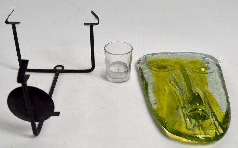 Glass Face Sconce By Erik Hoglund For Kosta Boda At 1stdibs
