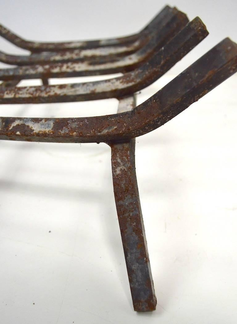 Mid Century  Fireplace Grate In Good Condition For Sale In New York, NY