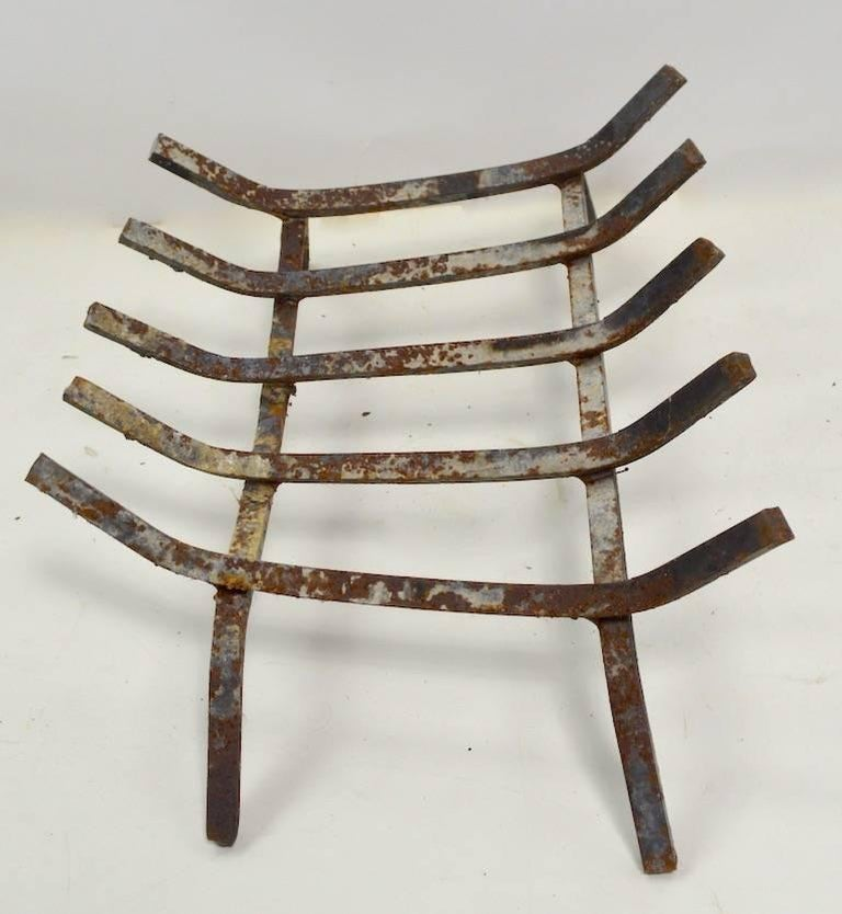 American Mid Century  Fireplace Grate For Sale