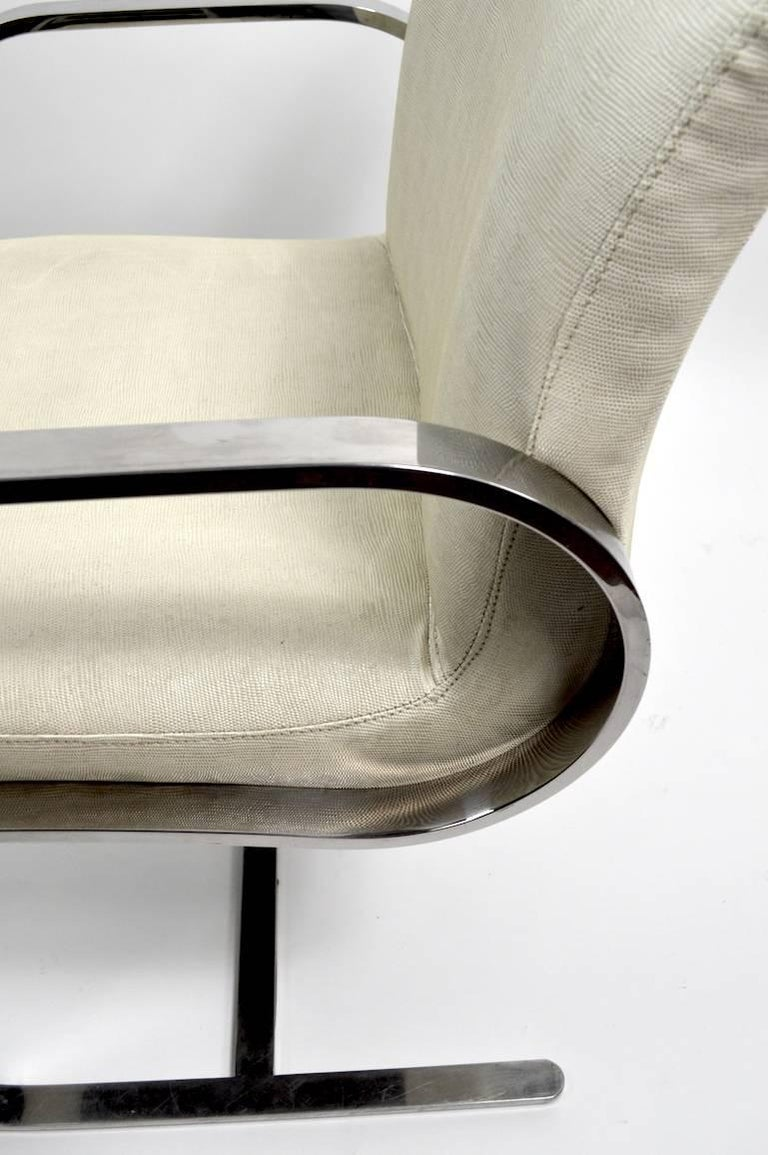 Pair of Brno Style Chairs Attributed to Brueton For Sale 2
