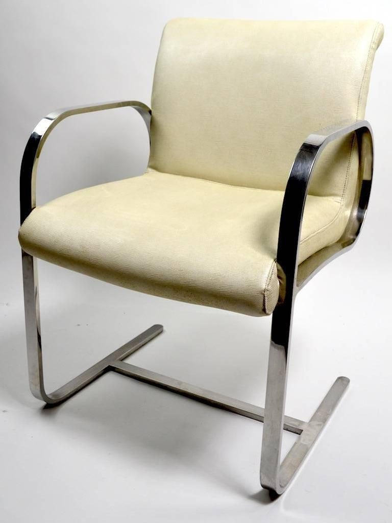 International Style Pair of Brno Style Chairs Attributed to Brueton For Sale