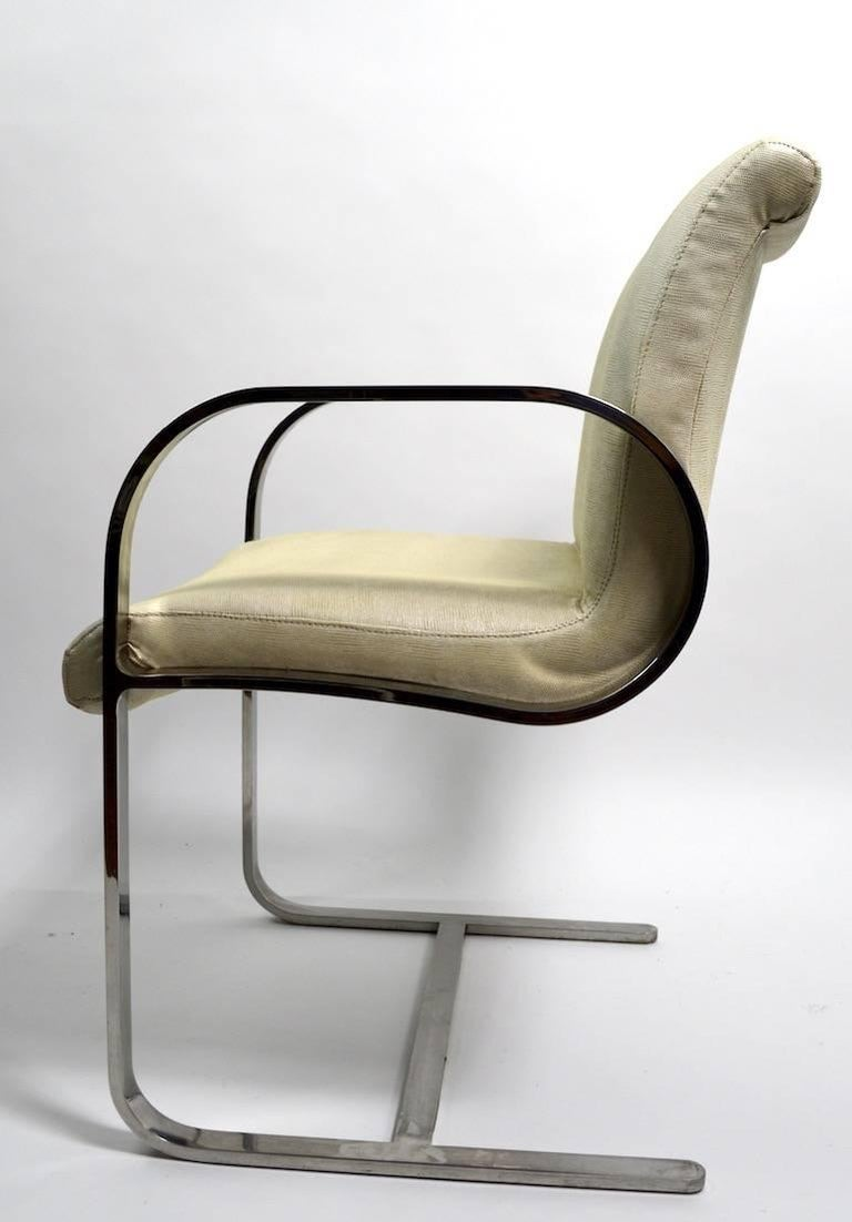 Pair of Brno Style Chairs Attributed to Brueton For Sale 1
