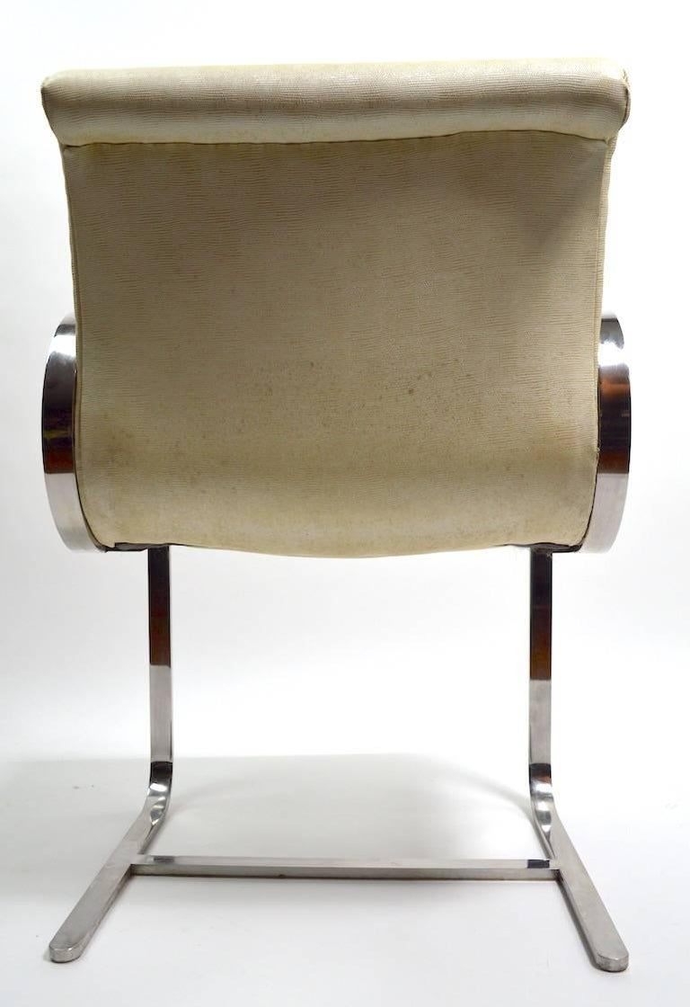 Pair of Brno Style Chairs Attributed to Brueton For Sale 4