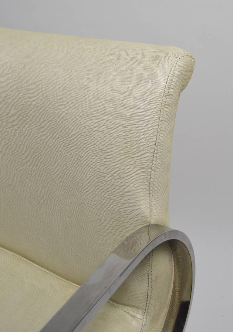 20th Century Pair of Brno Style Chairs Attributed to Brueton For Sale