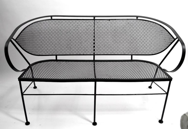 Mid-Century Modern Woodard Loveseat Sofa For Sale