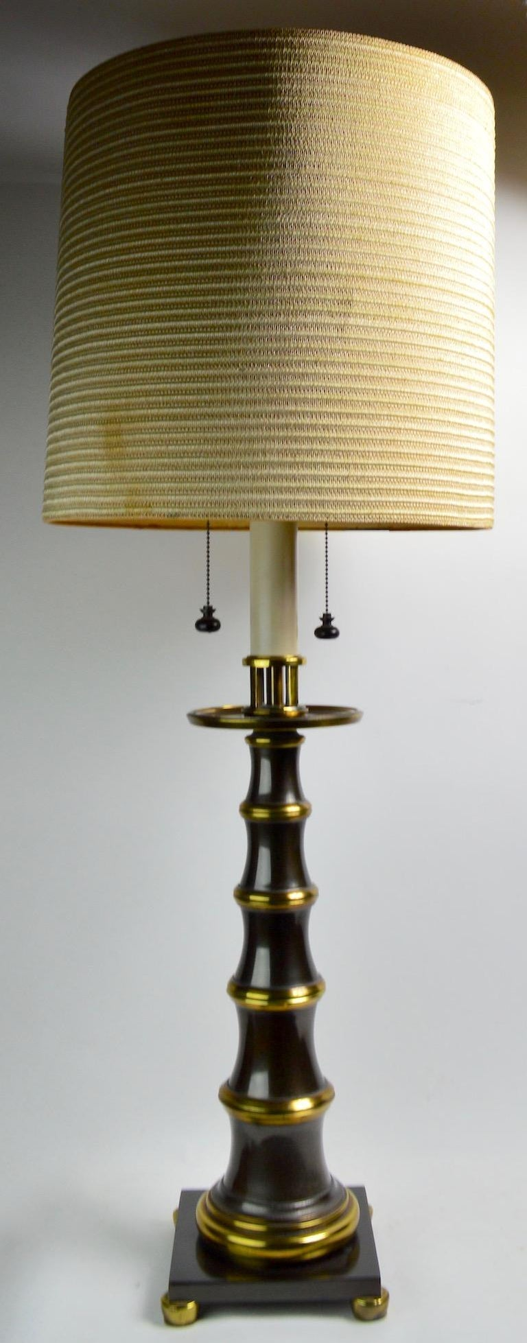Faux Bamboo Style Table Lamp by Stiffel For Sale 3