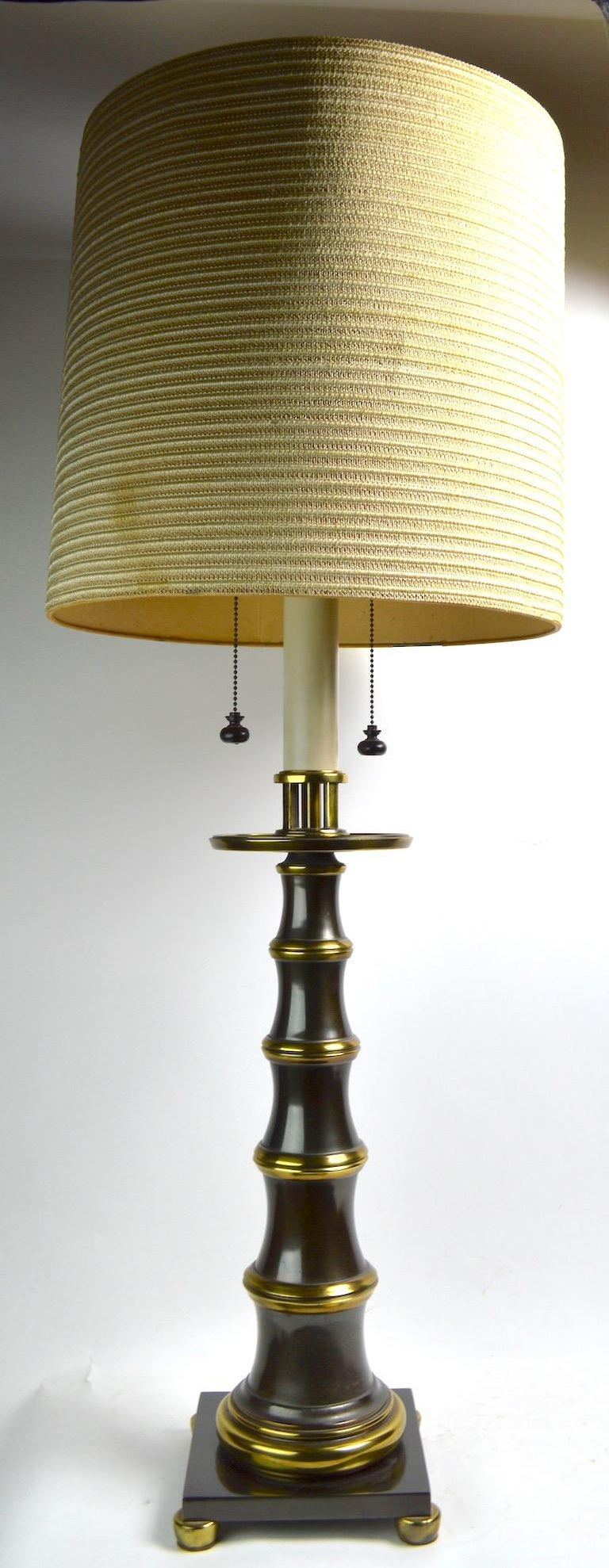 Faux Bamboo Style Table Lamp by Stiffel For Sale 4