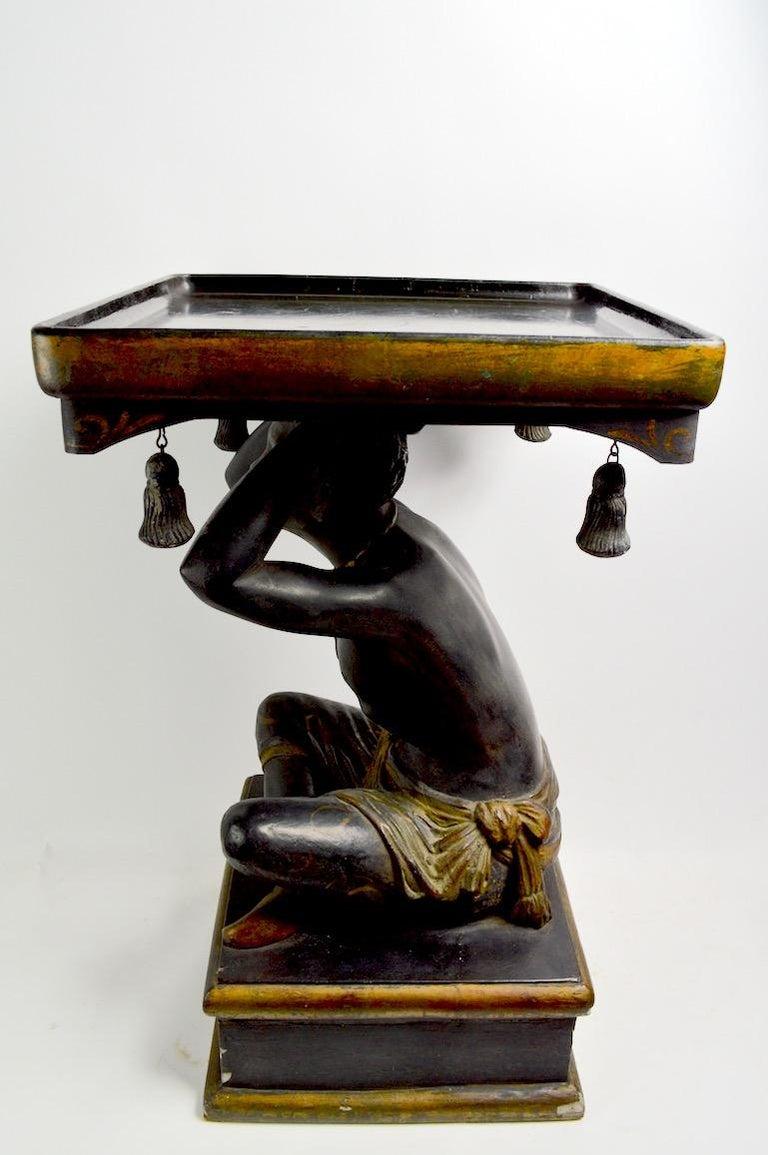 Blackamoor Tray Table by Jo Mead For Sale 2