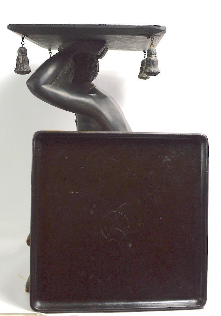 Blackamoor Tray Table by Jo Mead For Sale 3