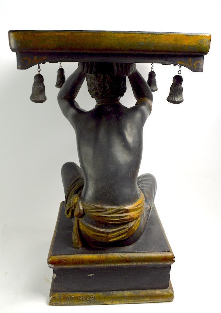 Blackamoor Tray Table by Jo Mead For Sale 5