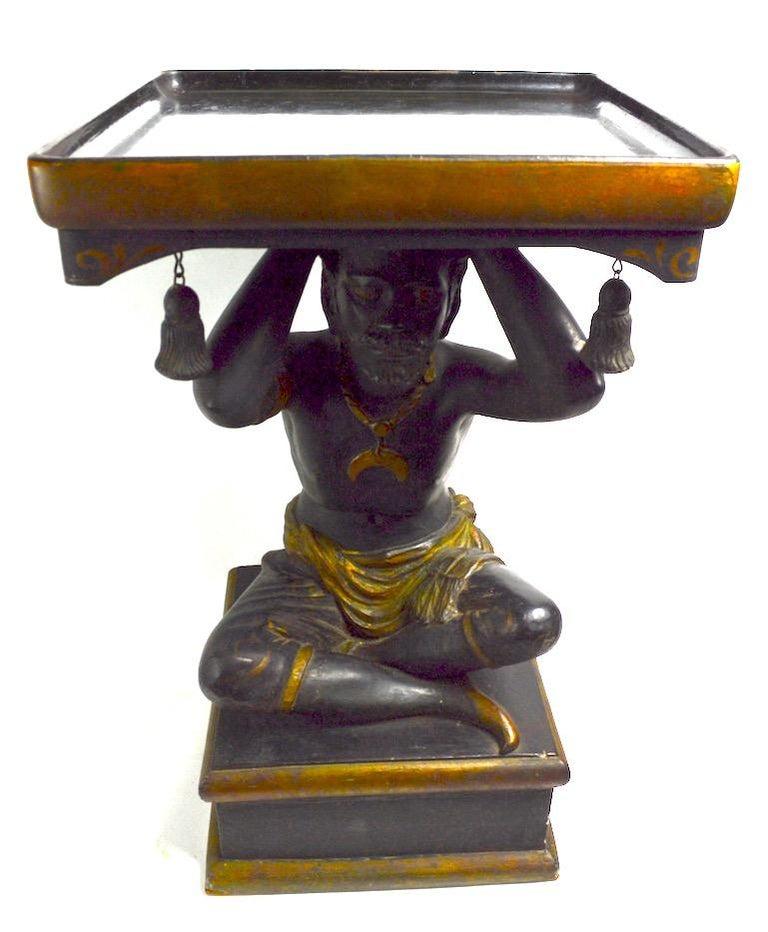 Blackamoor Tray Table by Jo Mead For Sale 7