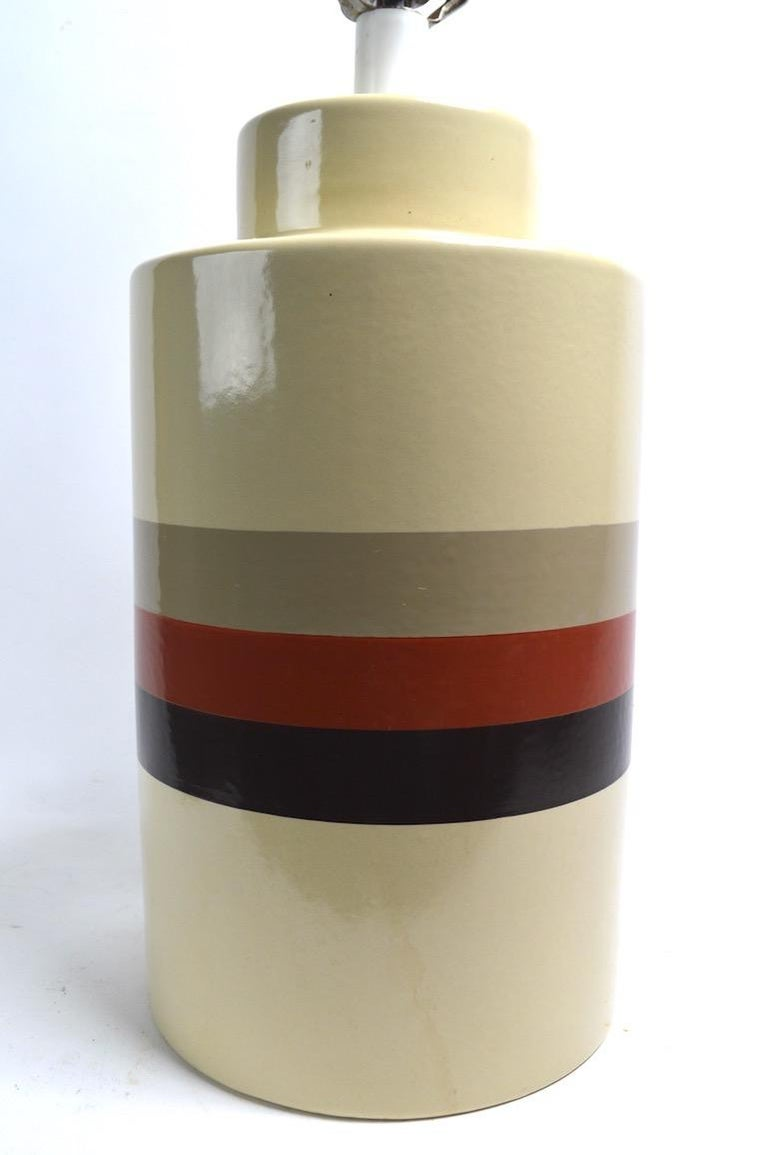 Late 20th Century Mod Ceramic Lamp by Philmar Sandel For Sale