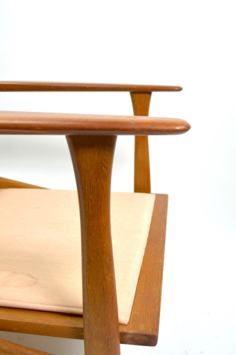 20th Century Pair of Arne Hovmand Olsen for Mogens Kold Lounge Chairs For Sale