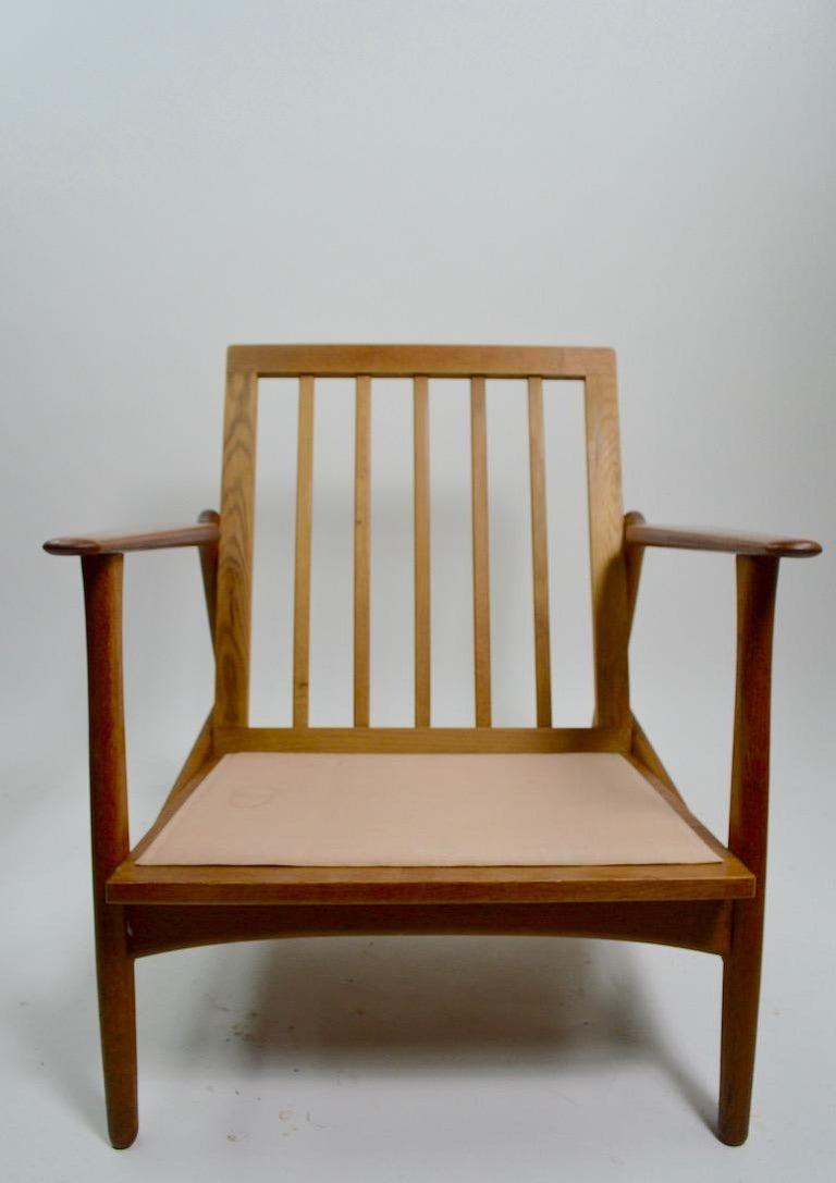 Pair of Arne Hovmand Olsen for Mogens Kold Lounge Chairs For Sale 2