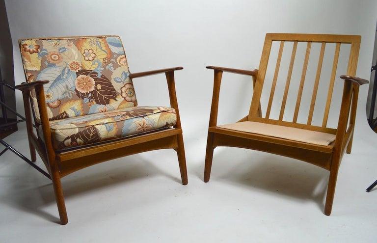 Scandinavian Modern Pair of Arne Hovmand Olsen for Mogens Kold Lounge Chairs For Sale