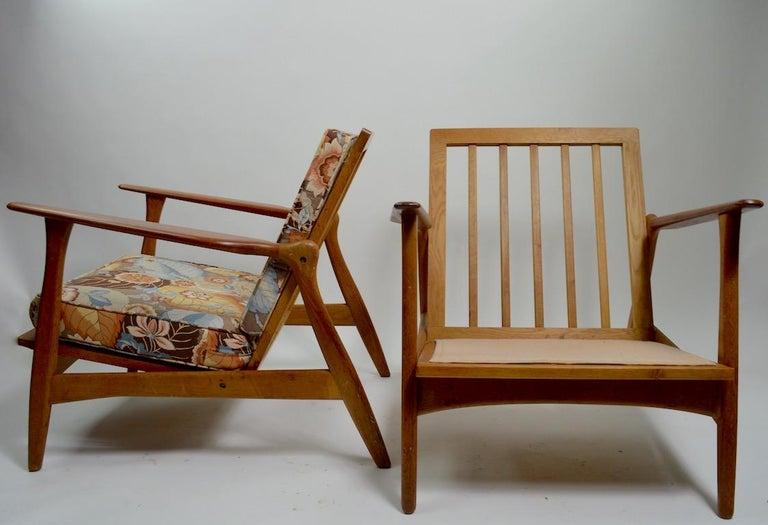 Pair of Arne Hovmand Olsen for Mogens Kold Lounge Chairs For Sale 7