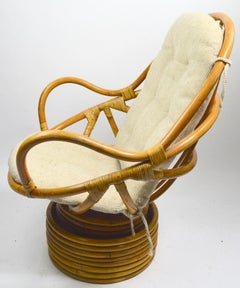 Bamboo Swivel Tilt Lounge Chair