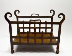 Gothic Arts & Crafts Wrought Iron Log Holder