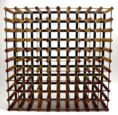 Large Architectural Midcentury Wine Rack