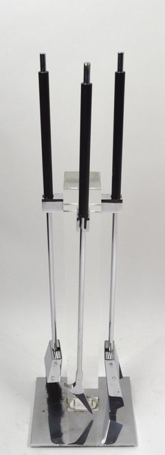 Lucite  Fireplace Tool Set by Albrizzi