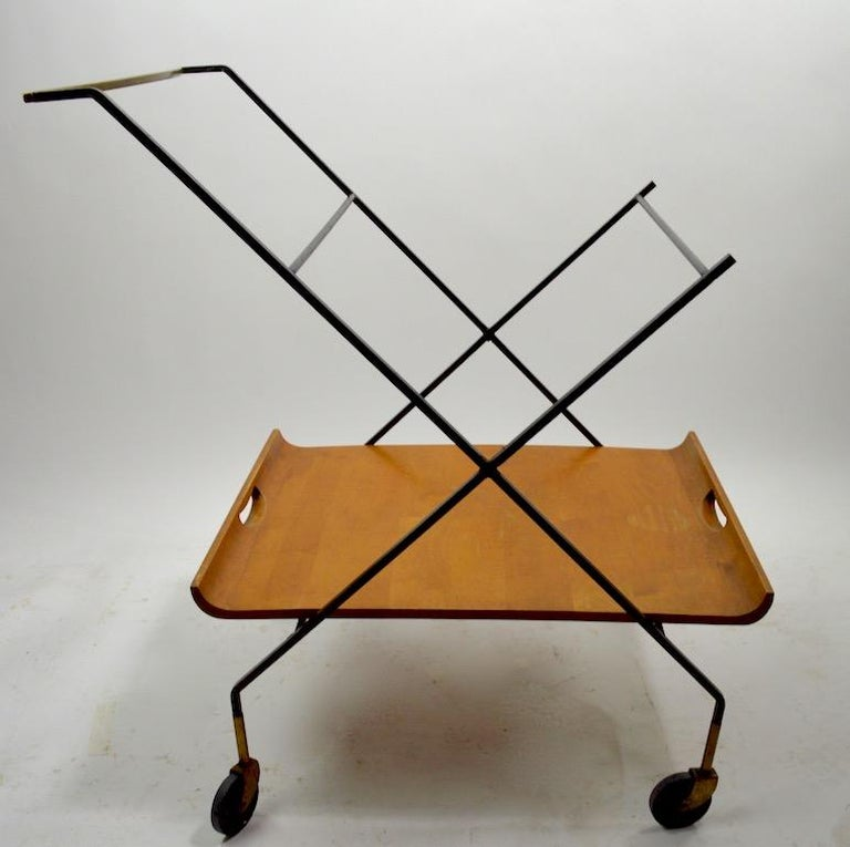 Brass Mid Century Cart by Baughman for Murrey Furniture For Sale
