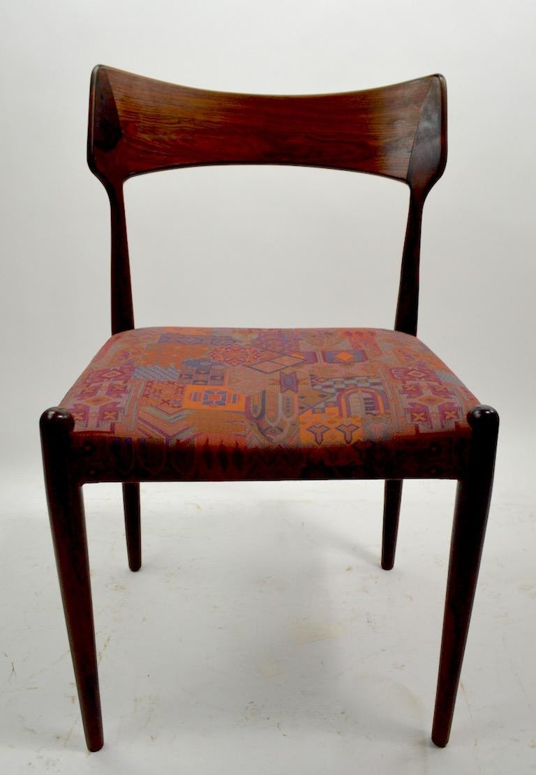 20th Century Set of Four Danish Mid Century Dining Chairs in Rosewood Attributed to AM Mobler For Sale