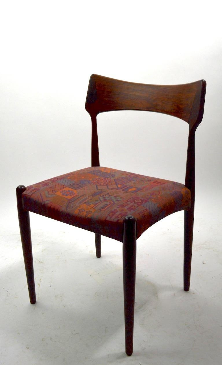 Set of Four Danish Mid Century Dining Chairs in Rosewood Attributed to AM Mobler For Sale 5