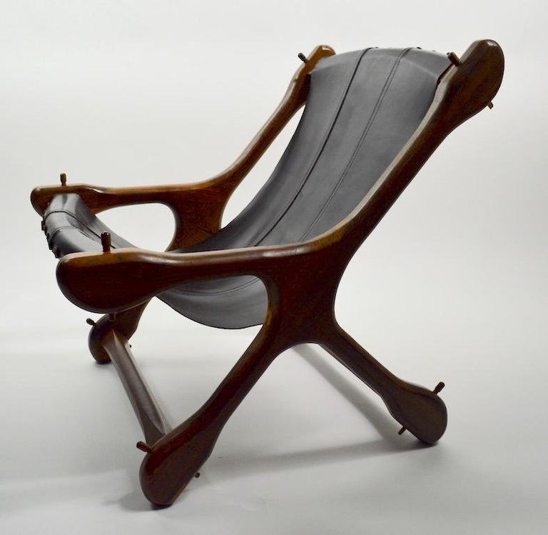 Don Shoemaker Sloucher Lounge Chair In Excellent Condition For Sale In New York, NY